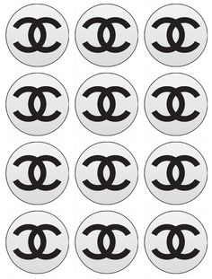Chanel Edible Cupcake Toppers 12 Chanel Logo edible images for cupcakes, cookies, cake, brownies any dessert. Birthday. $6.50, via Etsy.