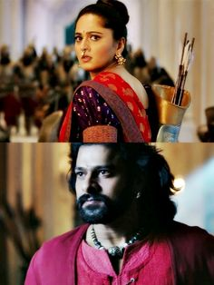 No one could have done these roles better than sweety and darling. Prabhas And Anushka, Allu Arjun Wallpapers, Bahubali 2, Rana Daggubati, Name Wallpaper, Bollywood Cinema, Births, Indian Designer Wear, Good Movies
