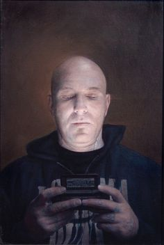 Dan Witz's Photorealistic Paintings Of People Hypnotized By Their Cell Phones