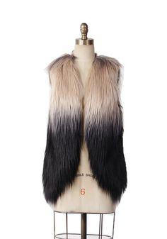 Khloe Ombre Faux Fur Vest