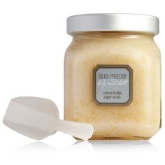 Laura Mercier Crème Brûlée Sugar Scrub ($52) ❤ liked on Polyvore featuring beauty products, bath & body products, body cleansers and laura mercier