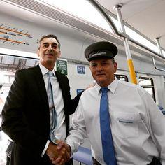 @Randazzof inauguración de nuevos trenes de la linea Mitre