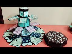 hey guys in this video i am going to show you how to make a hexagon tower explosion for beginners. Creative Birthday Cards, Cute Birthday Gift, Creative Box, Birthday Box, Diy Gift Box, Diy Box, Diy Gifts, Birthday Explosion Box, Explosion Box Tutorial