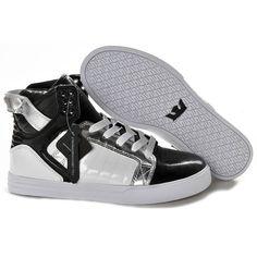 new product 3fb25 26761 Supra Marcas Online - Hombres Supra Skytop Negro Blanco Plata Altos tops  zapatos 27329,supra