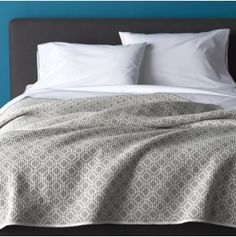 Raj Grey Reversible Quilt | Crate and Barrel