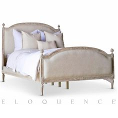 Eloquence® Dauphine Queen Bed in Beach House Natural | Kathy Kuo Home