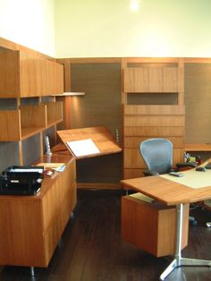 For good office Feng Shui place your desk in the Command Position in the room. The best way to achieve this is to have your desk facing out into the room with a clear view of the door but not in direct line with it. Have a solid wall behind you.