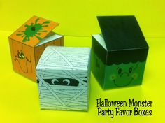 FREE printable Halloween Monster Boxes