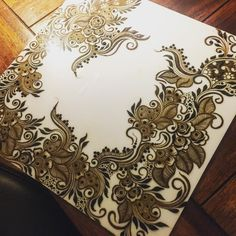 """2,203 Likes, 33 Comments - Kiran Sahib Mehndi Artist (@kiransahib_henna) on Instagram: """"These acrylic boards are perfect for practice! They stain very quickly so you'll need to wipe off…"""""""