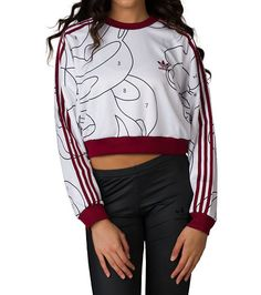 4ed3d532c558 adidas WOMENS RITA ORA PULLOVER SWEATER White Adidas Outfit