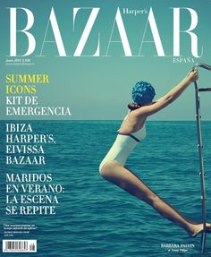 Stunning photo of Barbara Palvin for Harper's Bazaar Spain shot Xevi Mutané. Love the retro look