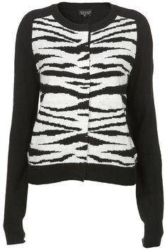 Topshop zebra cardigan