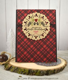 The perfect Plaid background cling stamp blends bold solid and striped lines effortlessly together for beautiful rich colorful designs! Holiday Cards, Christmas Cards, Prove Love, Solid And Striped, Craft Club, Masculine Cards, Stamping Up, Christmas Themes, Winter Wonderland