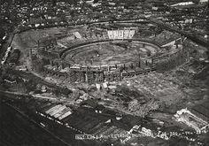 Maracanã em construção em foto aérea de 1949
