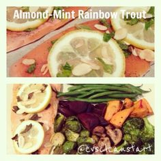 Ripped Recipes - Almond-Mint Rainbow Trout  - A light, healthy, delicious and SIMPLE trout recipe. Perfect for the summertime. Great served with salad or roasted veggies.