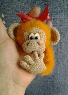 Amigurumi cheeky monkey. (Inspiration).