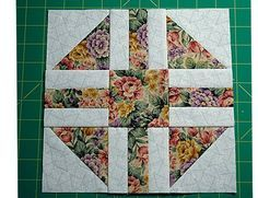 Evening Star Quilt Block Pattern With Nine-Patch Centers