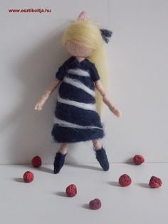 Needle felted Waldorf inspired doll.  Adorable little girl.  She brings sunshine in your home.