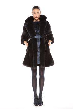 Blue dyed sable coat Sable Coat, Fur Coat, Fall Winter, Jackets, Blue, Fashion, Down Jackets, Moda, Fur Coats