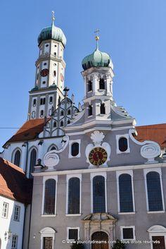 Augsbourg, Bavière: Les églises Ste Afra et St Ulrich - Churches in Augsburg in Bavaria - Kirchen in Augsburg, Bayern - https://www.yourcitydreams.com/augsbourg/ - #Allemagne