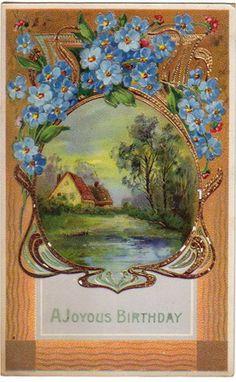 Printable Vintage Birthday Cards