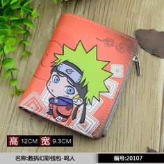 Anime Naruto Cosplay Q version of the cartoon quality PU short wallet students children birthday gift