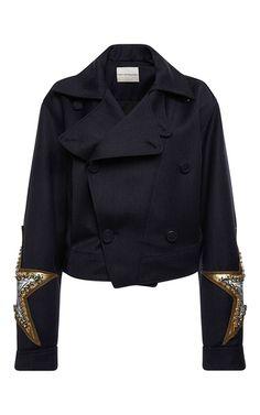 Stardust Embellished Jacket by MARY KATRANTZOU for Preorder on Moda Operandi