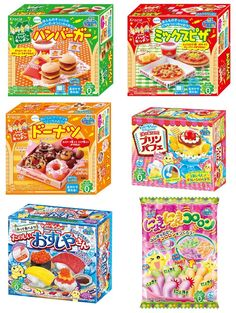 Kracie Japanese DIY Candy Kits Popin Cookin Happy Kitchen 6 Items Bundle (No.3)