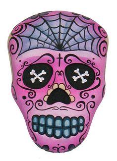 Custom Plaster Sugar Skull Wall Hanging
