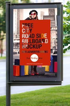 Free City Road Side Billboard Mockup For Advertisement (7.83 MB) | Free Mockup…
