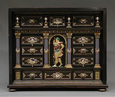 Cabinet with gold mounts and relief. After a design by Reinhold Vasters (German, Erkelenz 1827–1909 Aachen); Aachen, Germany, circa 1865–80.