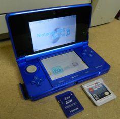 Nintendo 3DS Cobalt Blue Console System w Extra Nice   eBay