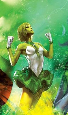 "comic-book-ladies: "" Arisia by Ben Oliver "" DC Comics Green Lantern Dc Comics Heroes, Arte Dc Comics, Dc Comics Characters, Comic Book Girl, Comic Books, Comic Art, Green Lantern Corps, Green Lanterns, Ben Oliver"
