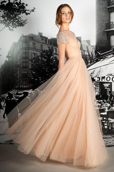 instead of white, this peachy nude gown from the reem acra resort 2012 collection is dreamy