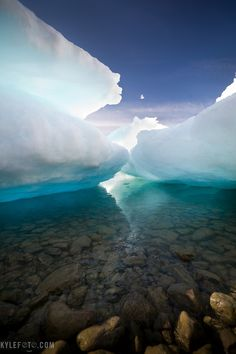 Glowing sea ice Ellesmere island, Canadian Arctic by Kyle Marquardt
