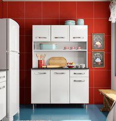 Kit 120cm de largura  Coleção Bella   Cozinhas Bertolini Cozinha de aço compacta