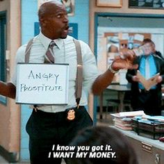 "When Terry role-played to help out the office. | 19 Times ""Brooklyn Nine-Nine"" Made You Laugh Uncontrollably"
