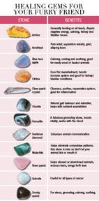 Healing Crystals for Cats & Dogs