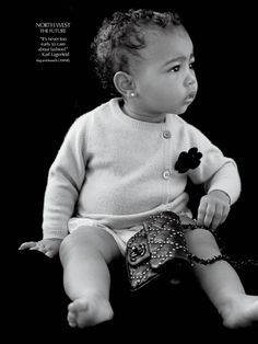 North West Makes Modeling Debut in CR Fashion Book. CUTE!!!!