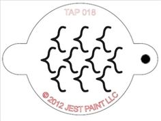 TAP face painting stencils are fun and easy to use for face painti designs. Great for face paints, airbrush, dry powders and temporary tattoo inks. Measuring x 2 inches Face Painting Supplies, Face Painting Tips, Face Painting Stencils, Temporary Tattoo Ink, Tattoo Supplies, Airbrush, Outline, Illusions, Pattern