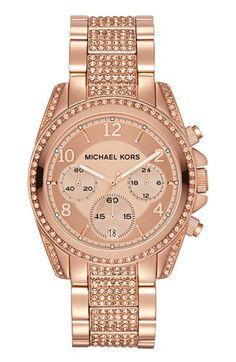 Michael Kors 'Blair' Pavé Crystal Bracelet Watch