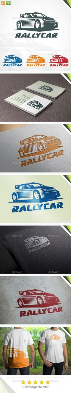 Rally Car Logo — Vector EPS #mechanic #racing • Available here → https://graphicriver.net/item/rally-car-logo/11317461?ref=pxcr