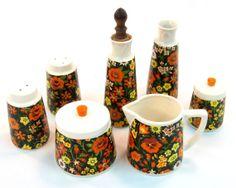 Vintage Cream and Sugar Set / Salt and Pepper / Oil by Retroburgh, $24.99