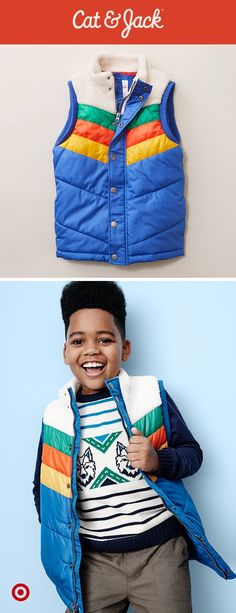 Cat & Jack's newest collection has cool picks straight from the snowy slopes, like this retro vest.