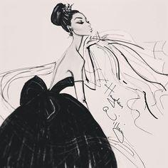 #Hayden Williams Fashion Illustrations #'Effortless Elegance' by Hayden Williams