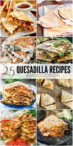 25 Quesadilla Recipes 25 Quesadilla Recipes,Dinner or Lunch Recipe ideas Is there any better than cheesy goodness between two tortillas? These 25 Quesadilla Recipes take a simple quesadilla to a whole new level with flavors to excite and delight! Mexican Dishes, Mexican Food Recipes, New Recipes, Dinner Recipes, Cooking Recipes, Favorite Recipes, Healthy Recipes, Ethnic Recipes, Simple Food Recipes