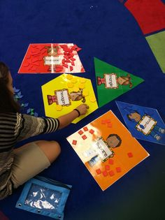 Pattern Block Posters for Sorting Activity (free; from Classy Kinders)