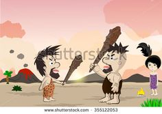 Caveman Cartoon Character