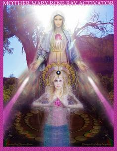 Mother Mary Rose Ray Grid Love Healing