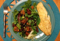 Fast Paleo » Broiled Haddock Salad with Roasted Sweet Potatoes and Sweet Maple Dressing - Paleo Recipe Sharing Site